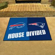 New England Patriots/Buffalo Bills House Divided Mat