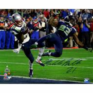 "New England Patriots Malcolm Butler Metallic Super Bowl 49 INT Signed 16"" x 20"" Photo"
