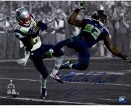 "New England Patriots Malcolm Butler Super Bowl 49 INT Spotlight Signed 16"" x 20"" Photo"