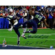"New England Patriots Malcolm Butler Super Bowl 49 INT w/ ""GW INT"" Signed 16"" x 20"" Photo"