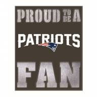 New England Patriots Metal LED Wall Sign