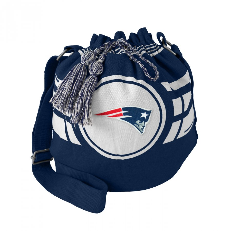 New England Patriots Navy Ripple Drawstring Bucket Bag