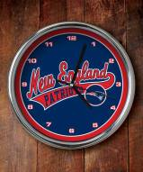 New England Patriots NFL Chrome Wall Clock