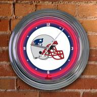 New England Patriots NFL Neon Wall Clock