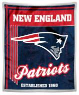 New England Patriots Old School Mink Sherpa Throw Blanket
