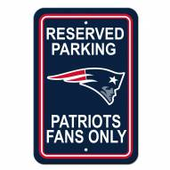 New England Patriots Parking Sign - Set of 2