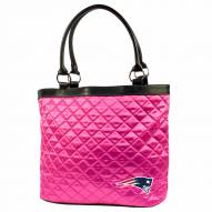 New England Patriots Pink NFL Quilted Tote Bag
