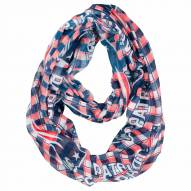 New England Patriots Plaid Sheer Infinity Scarf