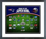 New England Patriots Road the Super Bowl Framed Photo
