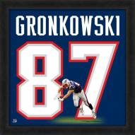 New England Patriots Rob Gronkowski Uniframe Framed Jersey Photo