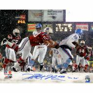 "New England Patriots Rob Ninkovich vs Oilers In Snow w/ ""Snow Sack"" Signed 16"" x 20"" Photo"