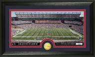 New England Patriots Stadium Bronze Coin Panoramic Photo Mint