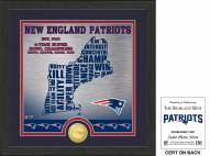 New England Patriots State Bronze Coin Photo Mint