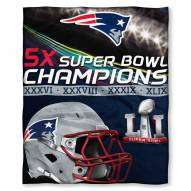 New England Patriots Super Bowl Silk Touch Blanket