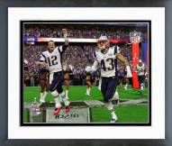 New England Patriots Team Introduction Super Bowl XLIX Framed Photo