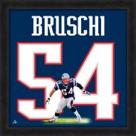 New England Patriots Tedy Bruschi Uniframe Framed Jersey Photo