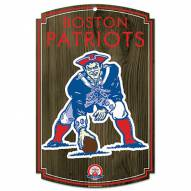 "New England Patriots ""Throwback"" Wood Sign"
