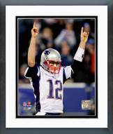 New England Patriots Tom Brady 49th Touchdown Pass of the 2007 season Framed Photo