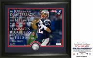 New England Patriots Tom Brady Quote Silver Coin Photo Mint