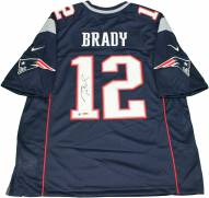 New England Patriots Tom Brady Signed Blue Nike Twill Jersey