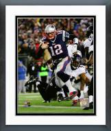 New England Patriots Tom Brady Touchdown Run 2014 Playoff Action Framed Photo