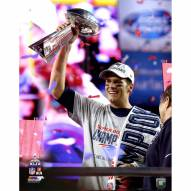 "New England Patriots Tom Brady w/ Trophy SB 49 16"" x 20"" Photo"