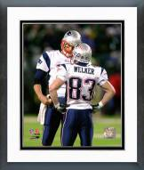 New England Patriots Tom Brady & Wes Welker 2007 Action Framed Photo