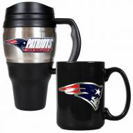 New England Patriots Travel Mug & Coffee Mug Set