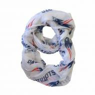 New England Patriots White Sheer Infinity Scarf