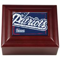 New England Patriots Wood Keepsake Box