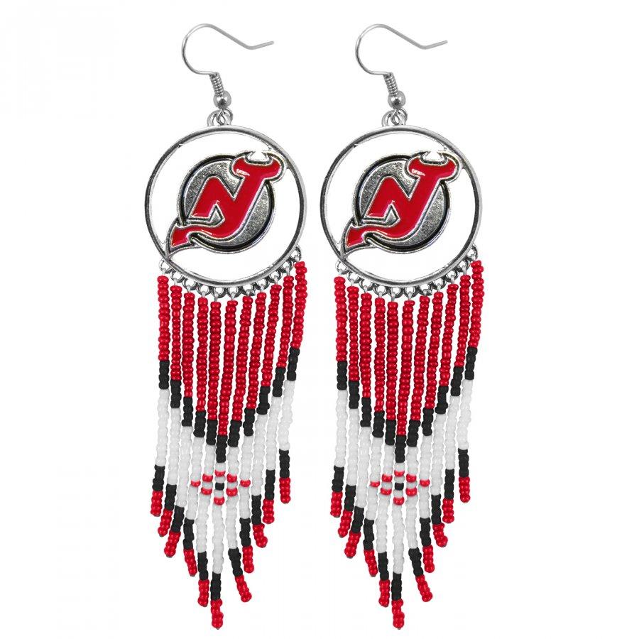 New Jersey Devils Dreamcatcher Earrings
