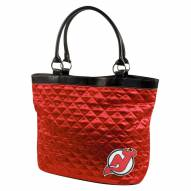 New Jersey Devils Quilted Tote Bag