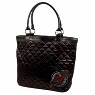 New Jersey Devils Sport Noir Quilted Tote