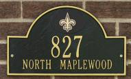 New Orleans Saints NFL Personalized Address Plaque - Black Gold