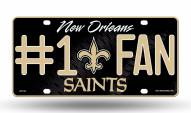 New Orleans Saints #1 Fan License Plate