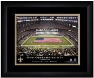 New Orleans Saints 13 x 16 Personalized Framed Stadium Print