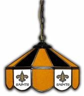 "New Orleans Saints 14"" Glass Pub Lamp"