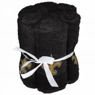 New Orleans Saints 6 Pack Washcloths