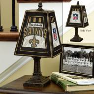 New Orleans Saints Art Glass Table Lamp