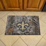 New Orleans Saints Camo Scraper Door Mat