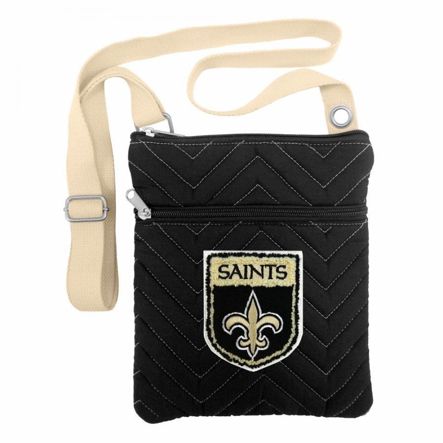 New Orleans Saints Crest Chevron Crossbody Bag
