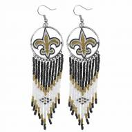 New Orleans Saints Dreamcatcher Earrings