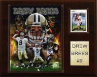 "New Orleans Saints Drew Brees 12 x 15"" Player Plaque"