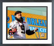 New Orleans Saints Drew Brees Super Bowl XLIV Parade Framed Photo