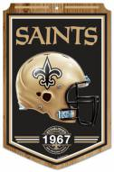 "New Orleans Saints ""Established"" Wood Sign"