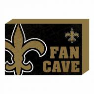 New Orleans Saints Fan Cave Wooden Plock