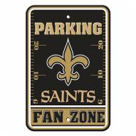 New Orleans Saints Fan Zone Parking Sign