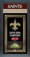 New Orleans Saints Framed Championship Print