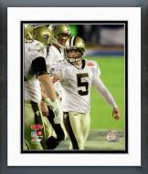 New Orleans Saints Garrett Hartley Super Bowl XLIV Action Framed Photo