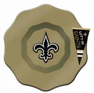 New Orleans Saints Glass Dip Bowl with Charm